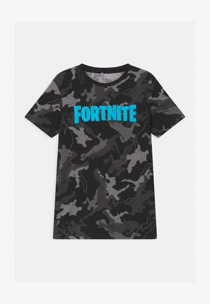 NKMFORTNITE - T-shirt con stampa - black