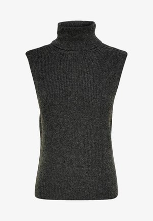 Vest - dark grey melange