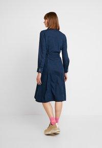 Monki - WAY DRESS - Jeanskjole / cowboykjoler - dark blue - 3
