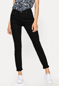 edc by Esprit - HIGH SKIN PANTS DENIM - Slim fit jeans - black denim - 0