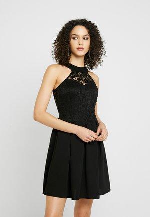 LACE SKATER DRESS - Sukienka letnia - black