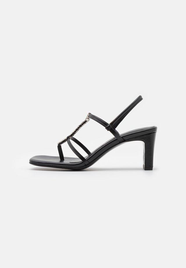 NARCISSIST THONG  - T-bar sandals - black