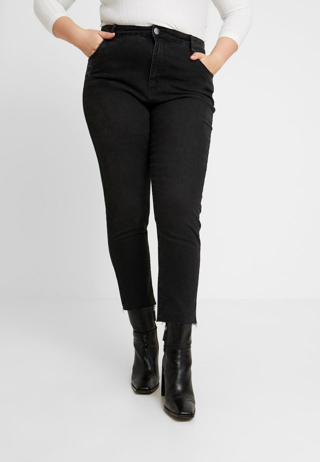 CURVE TAYLOR MOM - Jeansy Relaxed Fit - black