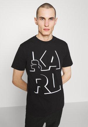 CREWNECK - T-shirt med print - black