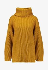 Topshop - HALF ROLL - Jumper - mustard - 3