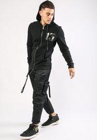Ed Hardy - DRAGON-13 ZIP THRU FLEECE SWEAT HOODY - Zip-up hoodie - black - 1