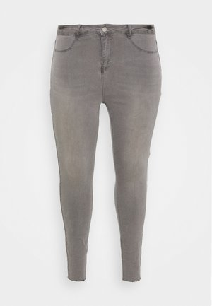 LAWLESS SLASH KNEE HIGHWAISTED SUPERSOFT - Jeans Skinny Fit - grey