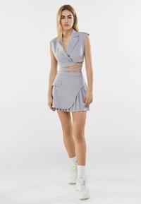 Bershka - A-line skirt - grey - 1