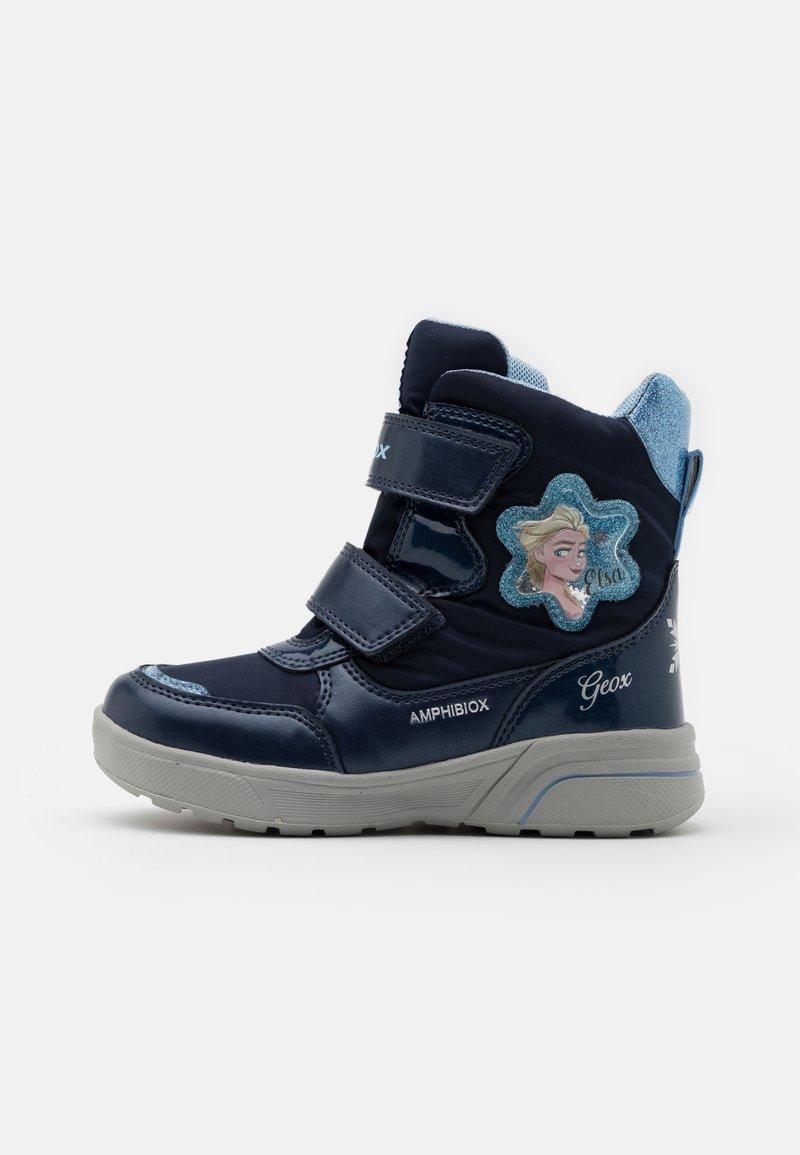 Geox - DISNEY FROZEN SVEGGEN GIRL ABX GEOX - Winter boots - Winter boots - navy/sky