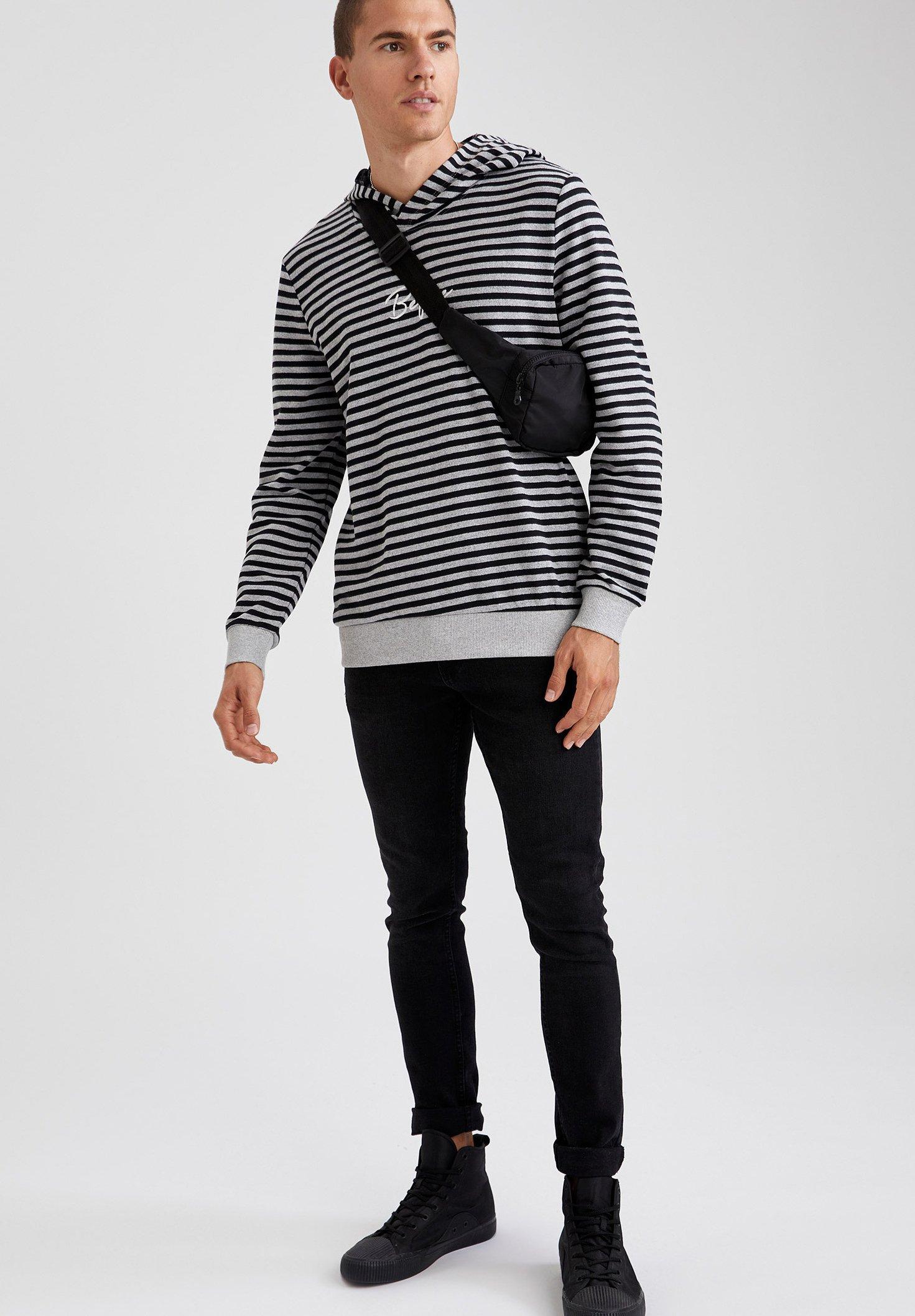 Hombre Jersey con capucha