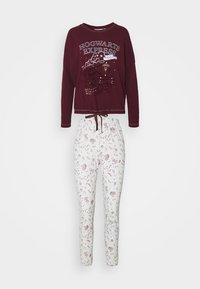 Women Secret - LONG SLEEVES LONG PANT SET - Pyjama - ox blood - 0