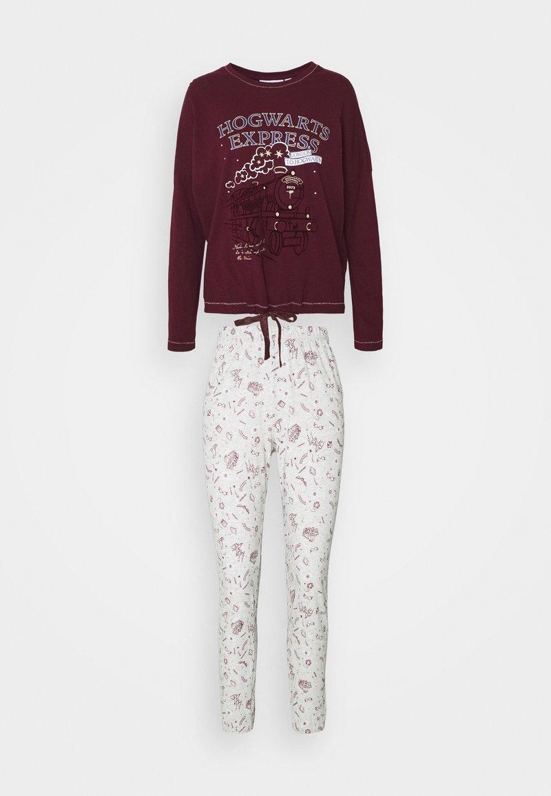Women Secret - LONG SLEEVES LONG PANT SET - Pyjama - ox blood