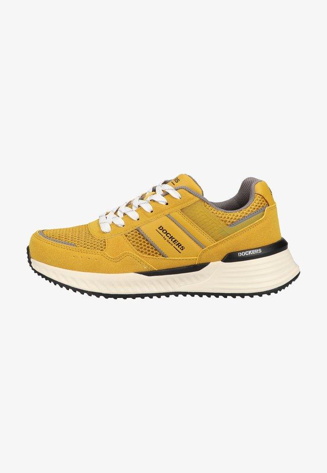 Sneakers laag - gelb/schwarz