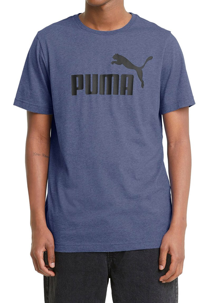 Puma - ESS ESSENTIALS HEATHER - Sports shirt - blau