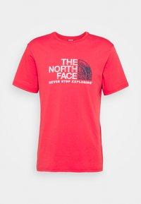 The North Face - RUST TEE  - Camiseta estampada - rococco red - 4