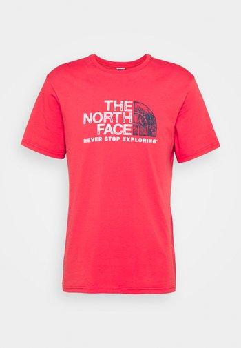 RUST TEE  - T-shirt imprimé - rococco red