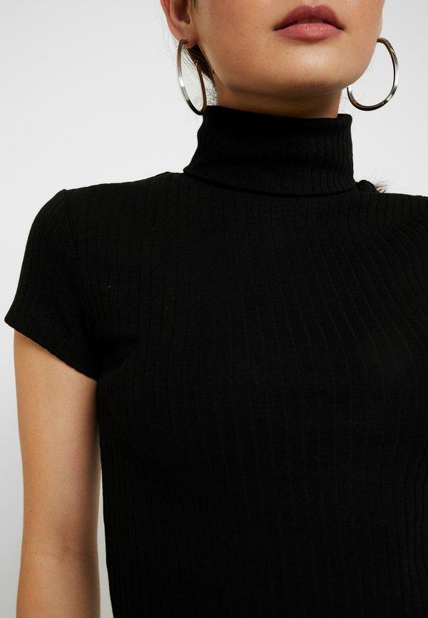 Anna Field Petite T-shirt z nadrukiem - black Kolor jednolity Odzież Damska QIII WB 1