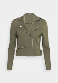 ONLY Petite - ONLPOPTRASH BIKER JACKET - Summer jacket - kalamata - 3