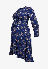 JULIETTE TIE FRONT DRESS - Shirt dress - navy