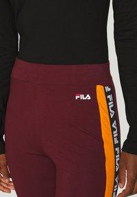 Fila Tall - TASYA - Leggingsit - tawny port/orange popsicle - 4