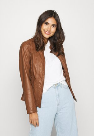 SC-AMALIE 4 - Faux leather jacket - brown