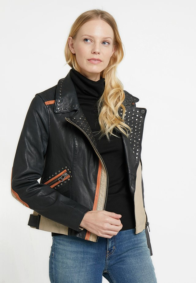 TICABOO - Leather jacket - black