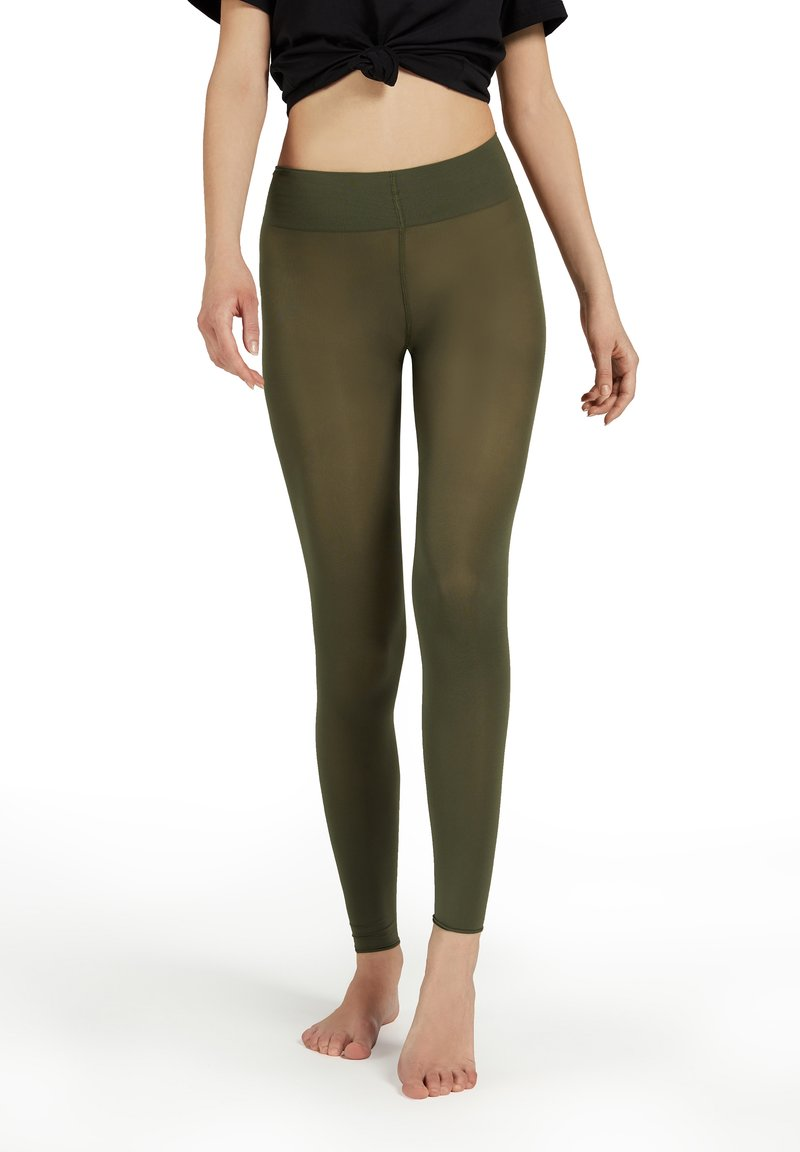 Calzedonia - BLICKDICHTE SOFT TOUCH TOTAL COMFORT LEGGINGS - Tights - verde militare