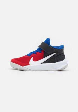 TEAM HUSTLE D 10 FLYEASE UNISEX - Chaussures de basket - off noir/white/university red/game royal