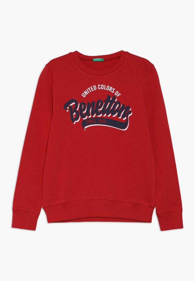Benetton - Sweatshirts - dark red