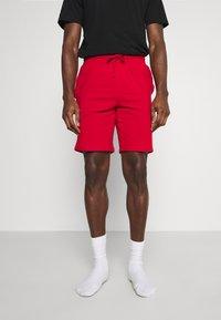 Pier One - 3 PACK - Pyjamasbyxor - black/mottled dark grey/red - 1