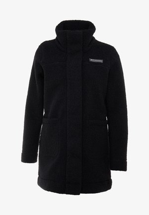 PANORAMA LONG JACKET - Fleece jacket - black