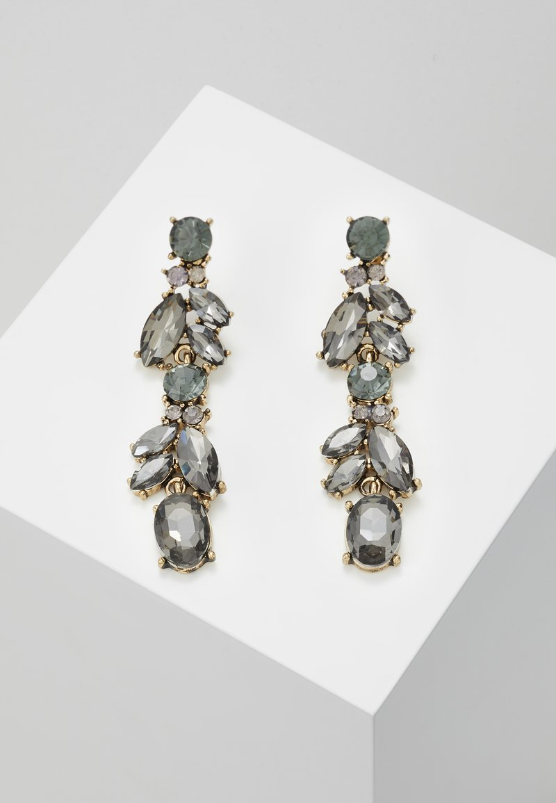Pieces - PCJUDY EARRINGS KEY - Orecchini - gold-coloured/grey