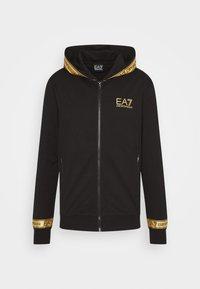 Mikina na zip - black/gold