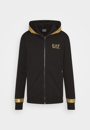 Mikina na zip - black/gold