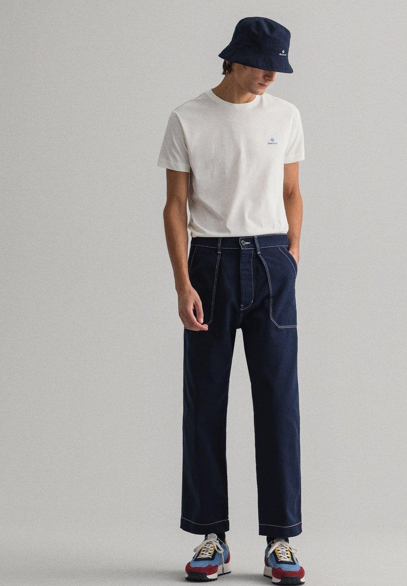 GANT - CONTRAST - Basic T-shirt - off white