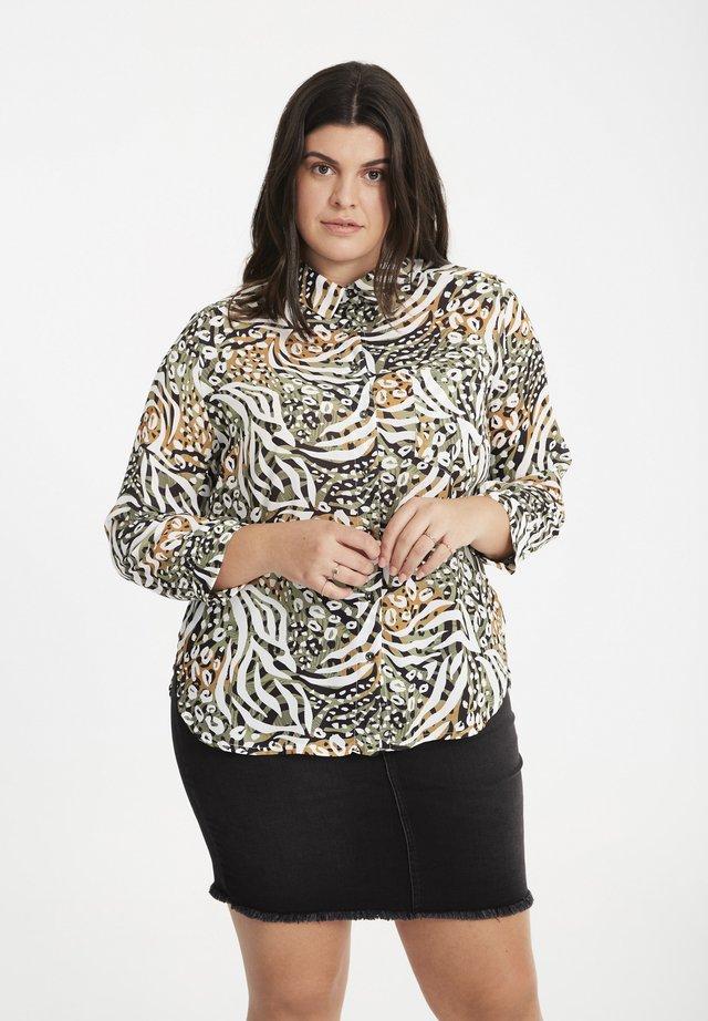 MIT ANIMAL-PRINT - Overhemdblouse - khaki