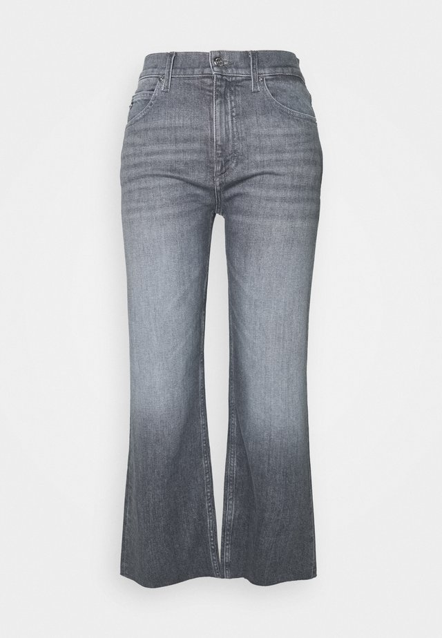 WIDE LEG CROP PANT - Relaxed fit jeans - maceio mid grey