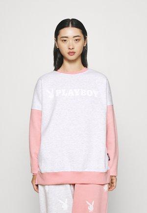 PLAYBOY COLURBLOCK - Sweatshirt - grey