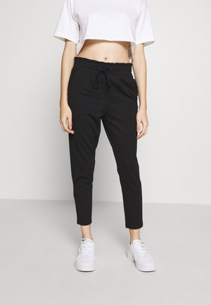 ONLPOPTRASH EASY FRILL PANT - Trousers - black