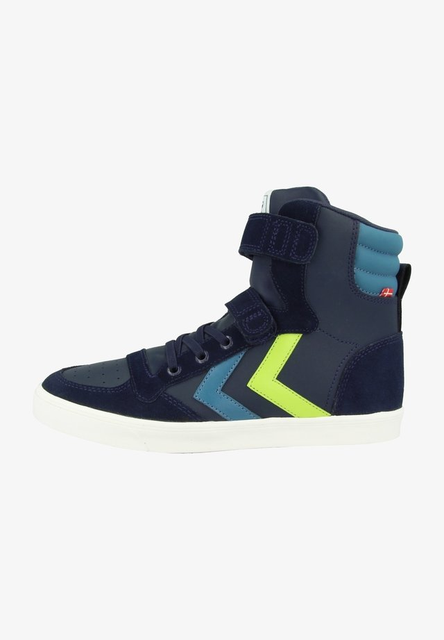 High-top trainers - black iris