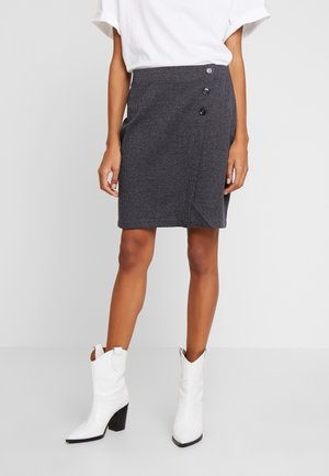 JAQUARD SKIRT - Pencil skirt - grey/blue