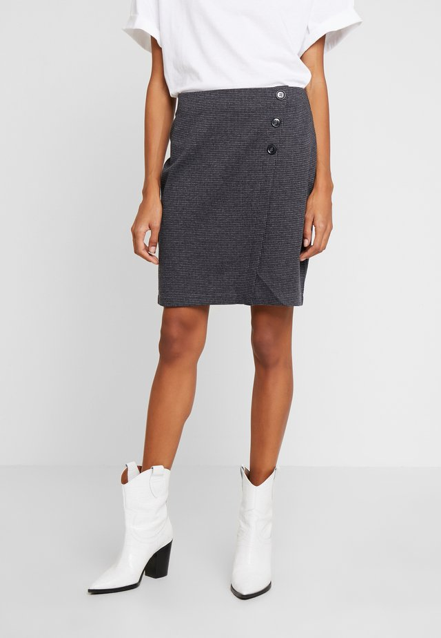 JAQUARD SKIRT - Blyantnederdel / pencil skirts - grey/blue