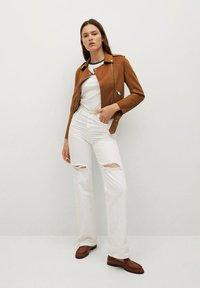 Mango - SEUL - Faux leather jacket - braun - 1