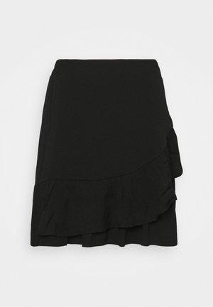 KIMMY SHORT SKIRT - Jupe trapèze - black