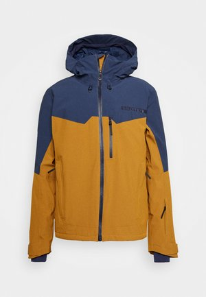 UNTRACKED - Ski jacket - cumin/dark denim/heather