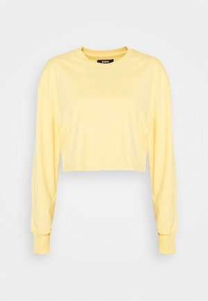 Botanical dyed - Long sleeved top - light yellow