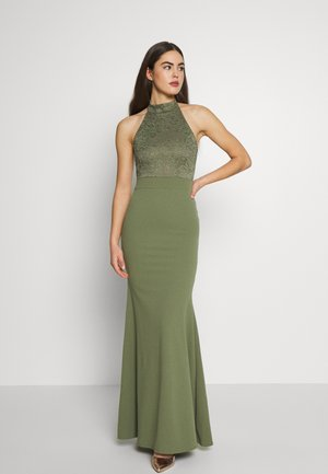 BRIDESMAID HALTERNECK FISHTAIL MAXI - Iltapuku - green