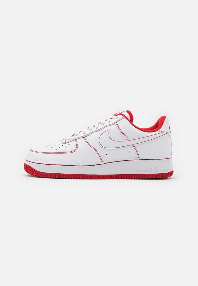 AIR FORCE 1 '07 STITCH - Sneakers laag - white/university red