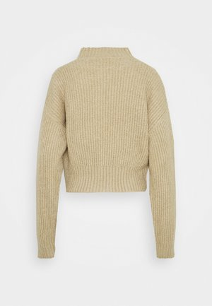 CROPPED FLUFFY JUMPER - Jumper - oatmeal