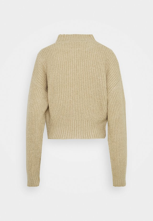 CROPPED FLUFFY JUMPER - Neule - oatmeal